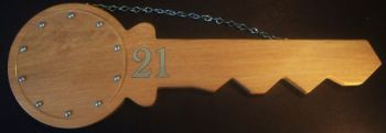 21st Key Wooden