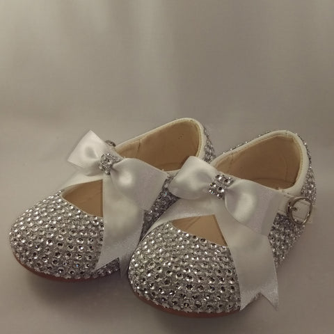 Bling Infant Shoes Girls Diamante Crystals - Emerald Occasions