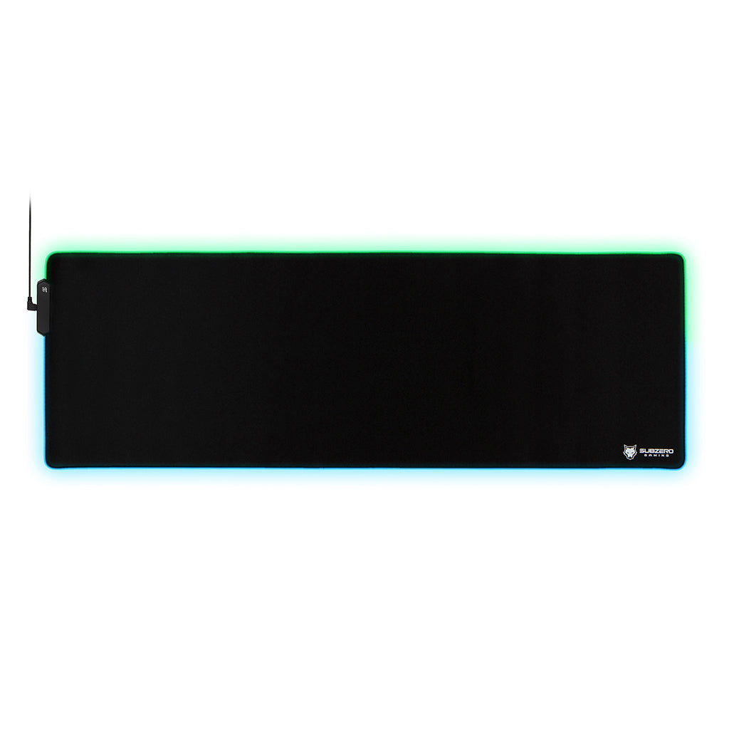 "TYKA Extended RGB Gaming Mouse Pad, Long XL, Stitched Edges, 36""x12"" (Black)"