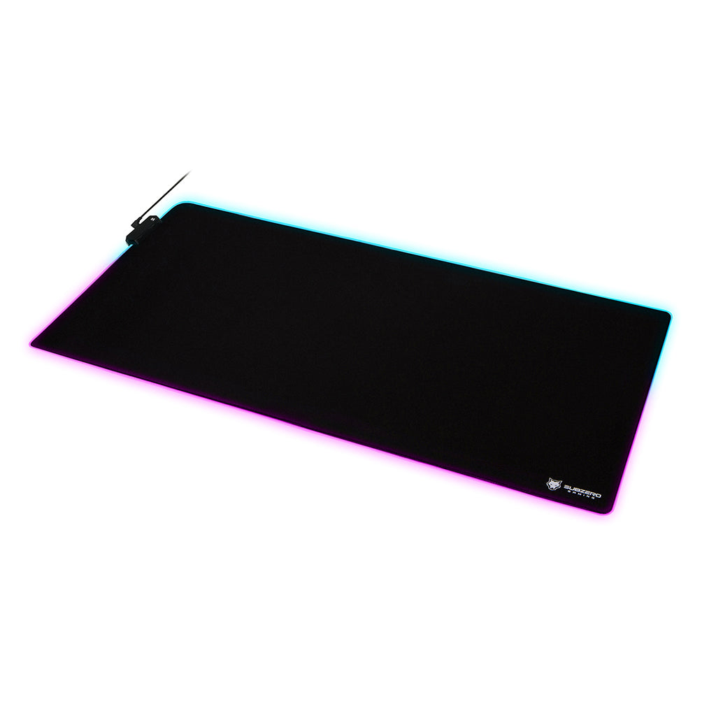 "TYKA Extended Mammoth RGB Gaming Mouse Pad, Long XXL, Stitched Edges, 36""x18"" (Black)"