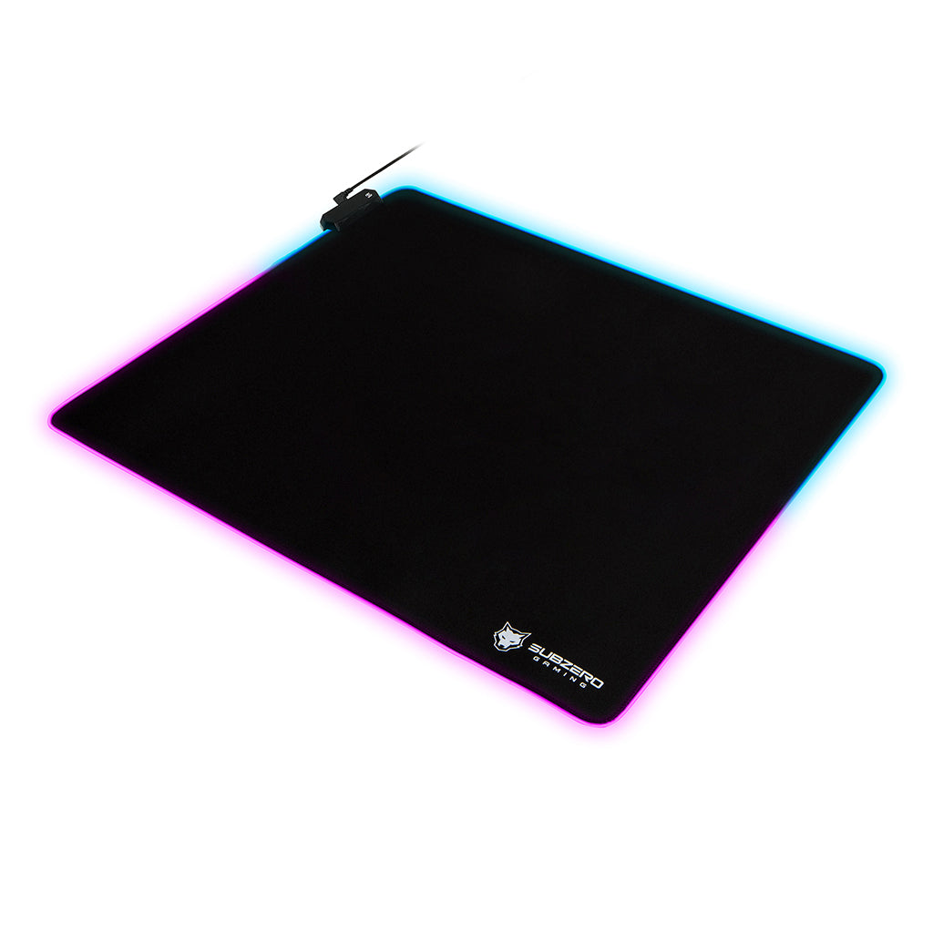 "TYKA RGB Gaming Mouse Pad, Large, Stitched Edges, 18""x16"" (Black)"