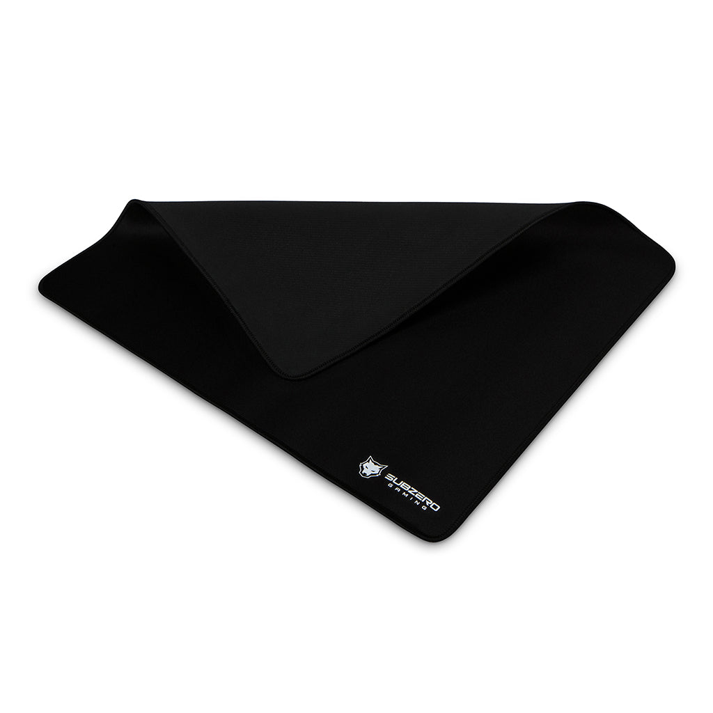 "TYKA Soft Gaming Mouse Pad, Large, Stitched Edges, 18""x16"" (Black)"
