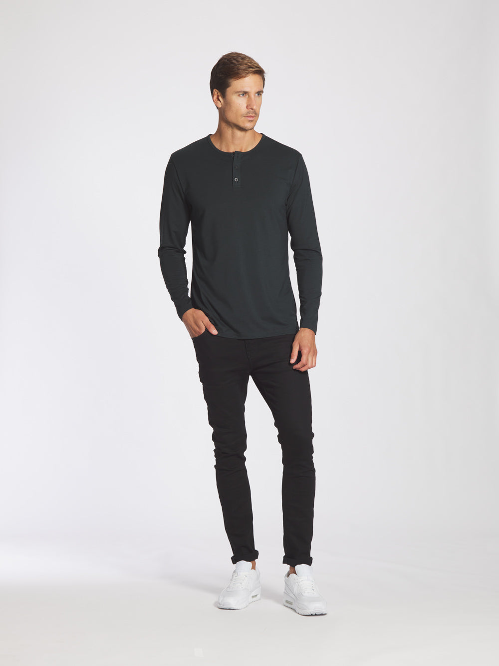 Black Forest L/S Henley Split-Hem