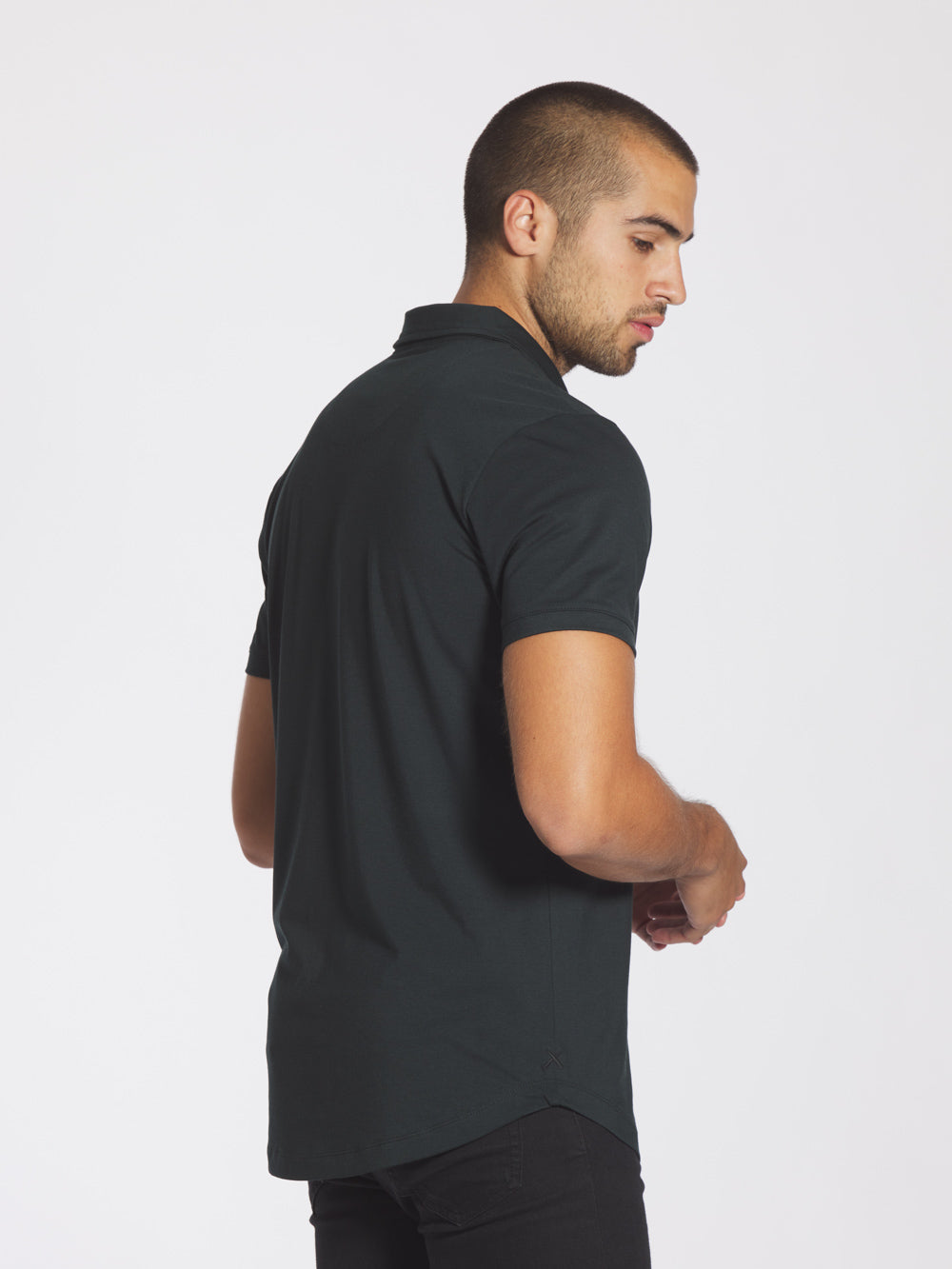 Black Forest Polo Curve-Hem