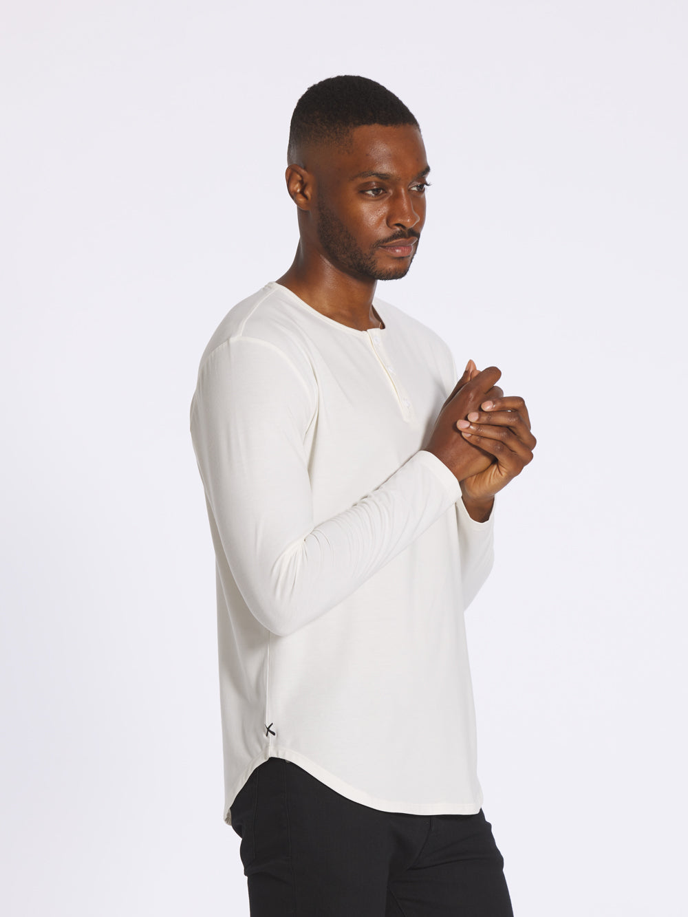 Salt L/S Henley Elongated
