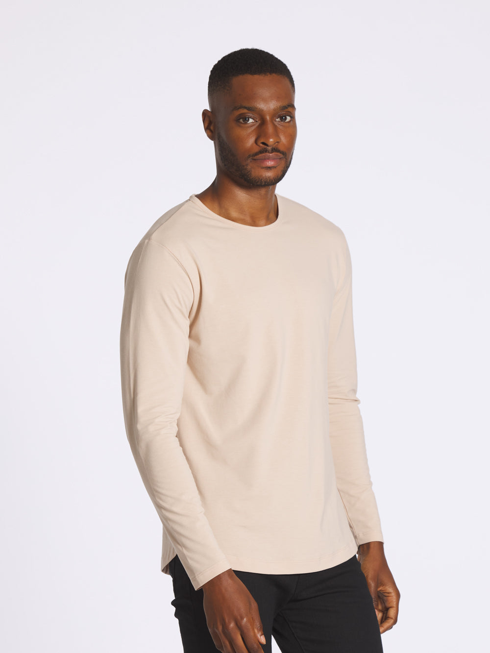 Moonlight L/S Crew Curve-Hem
