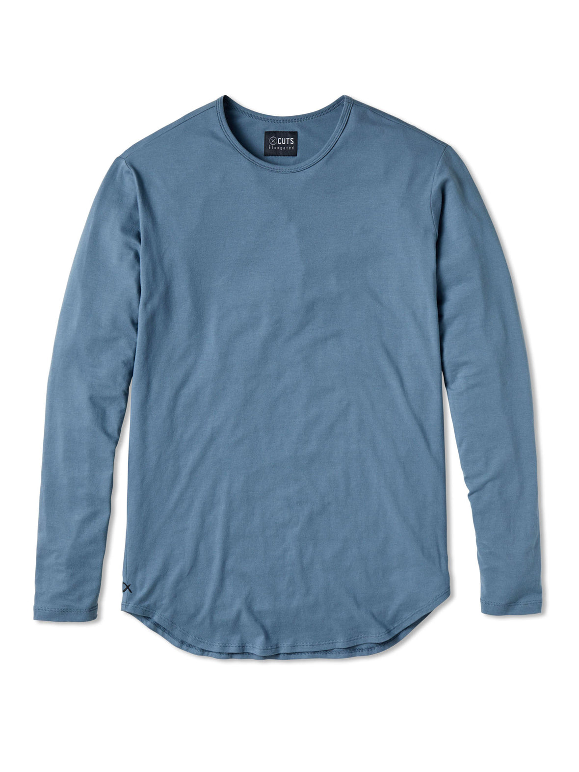 Burr Blue L/S Crew Elongated