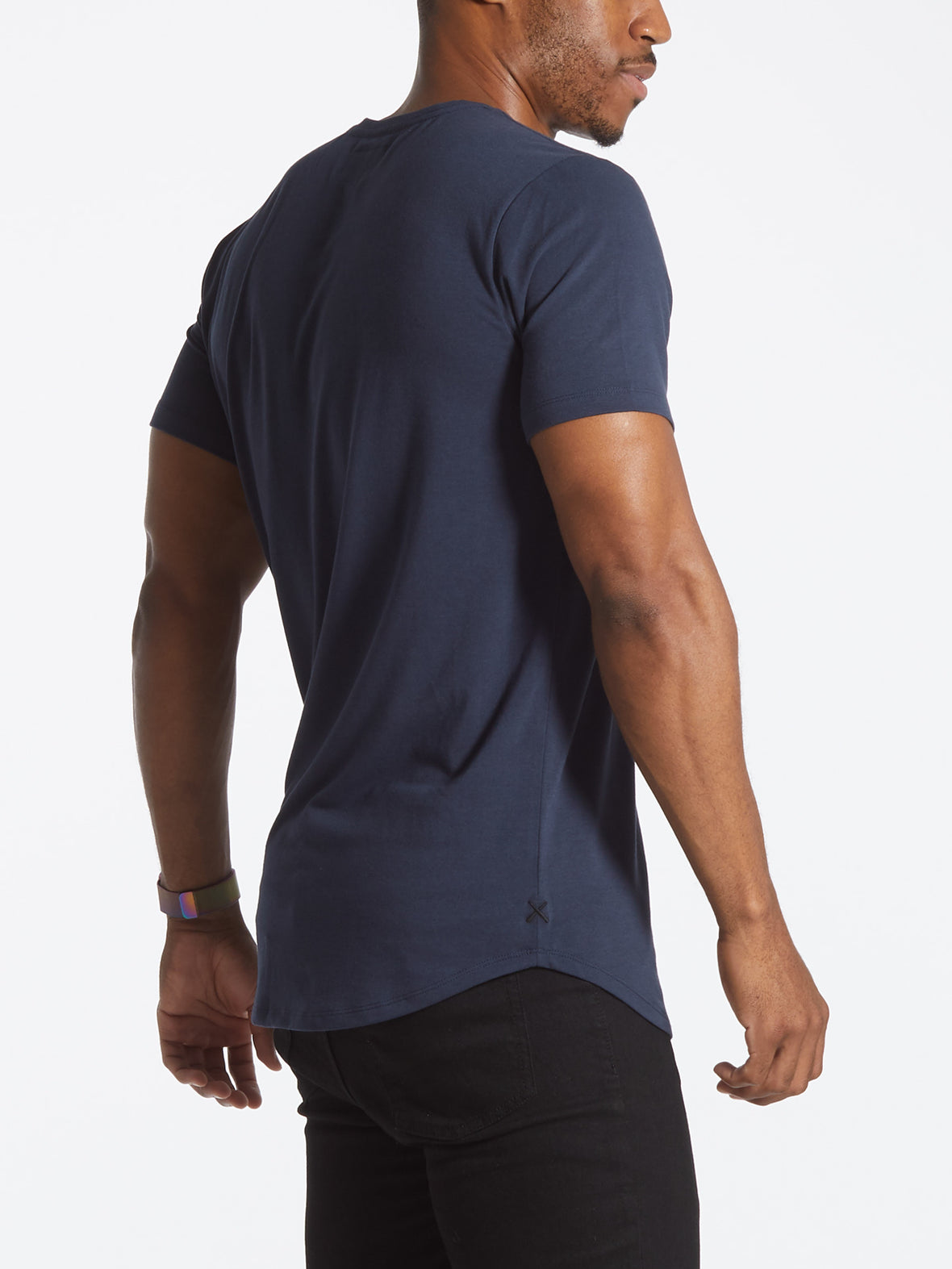 Blue Night V-Neck Elongated