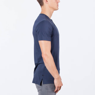 Blue Night S/S Henley Split-Hem