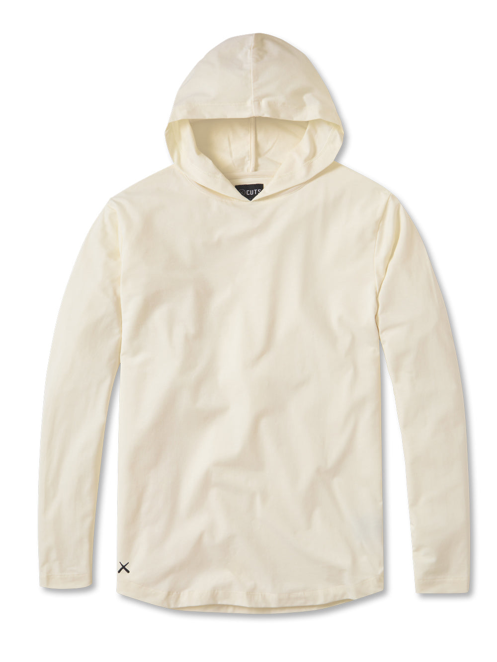 Egg Shell L/S Hooded Curve-Hem