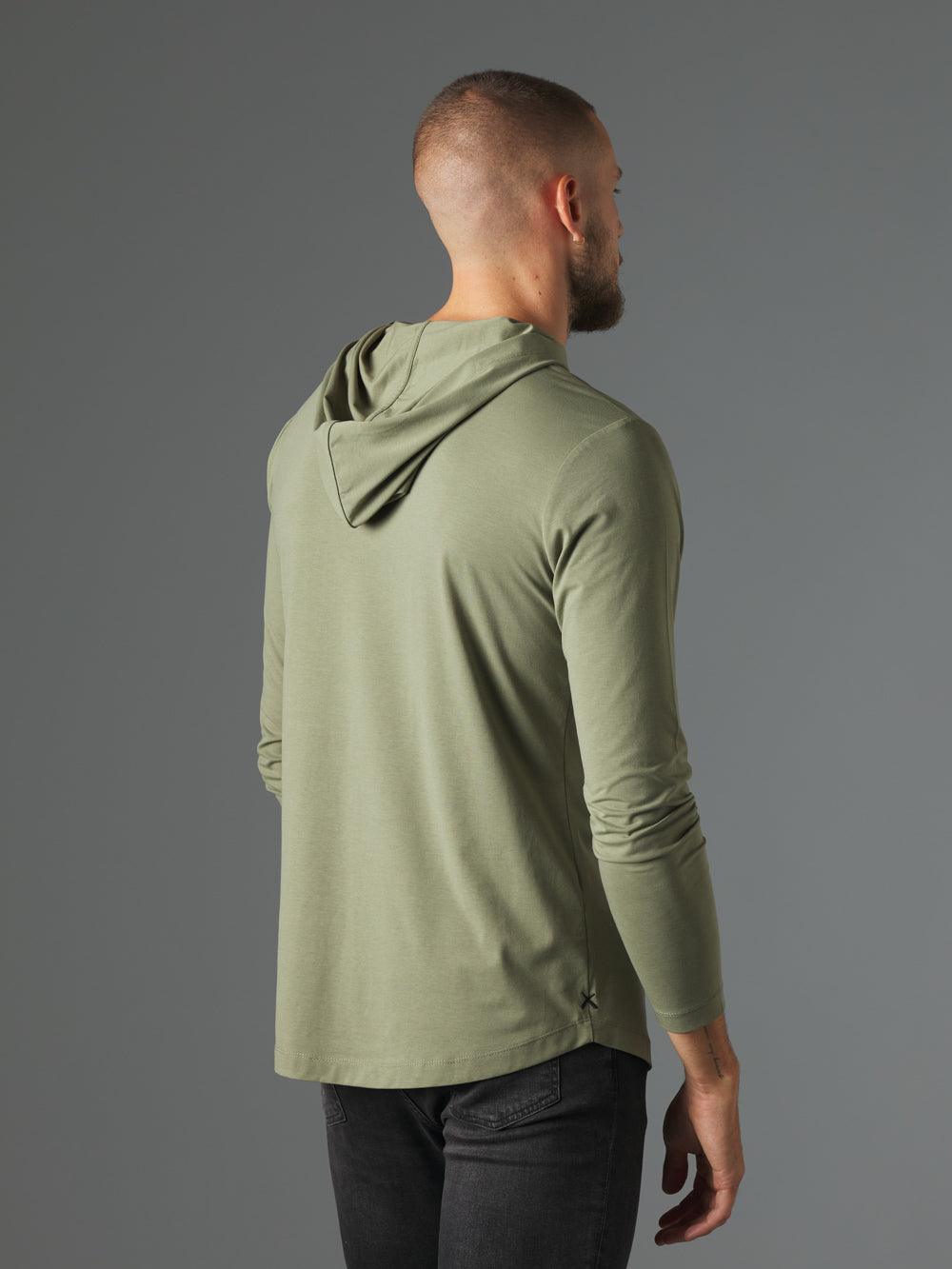 Sweet Basil Hooded Curve-Hem