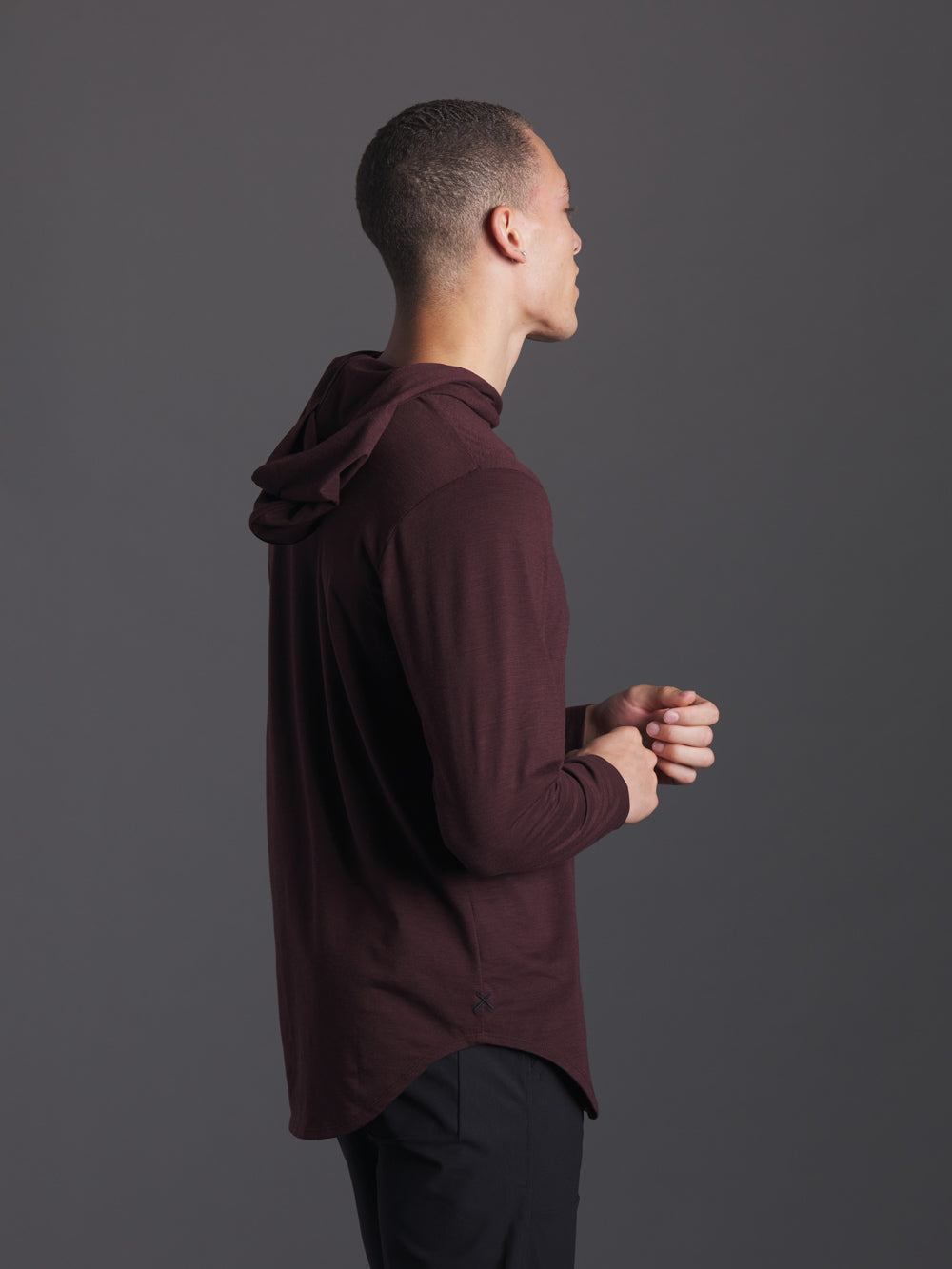 Deep Amber Slub L/S Hooded Elongated