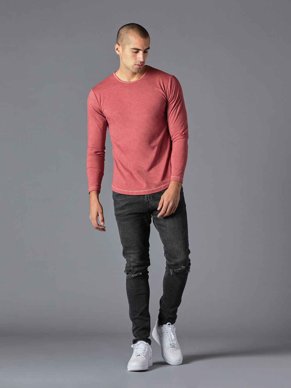Redwood Heather L/S Crew Curve