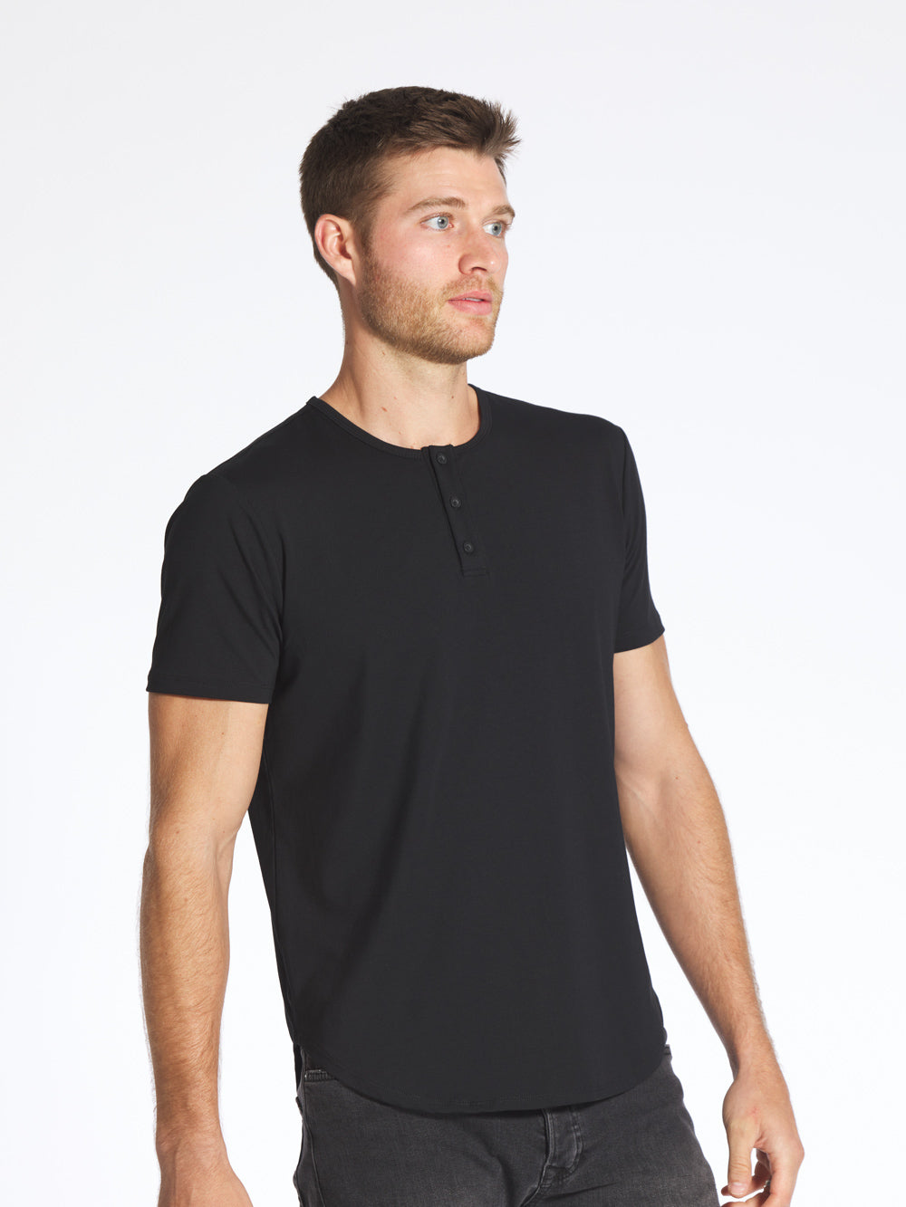 Black Henley Elongated