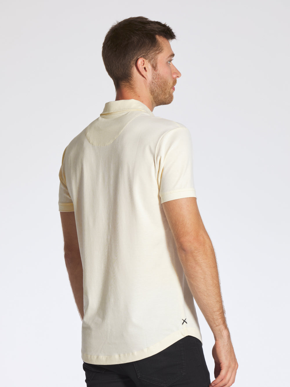 Egg Shell Polo Curve-Hem