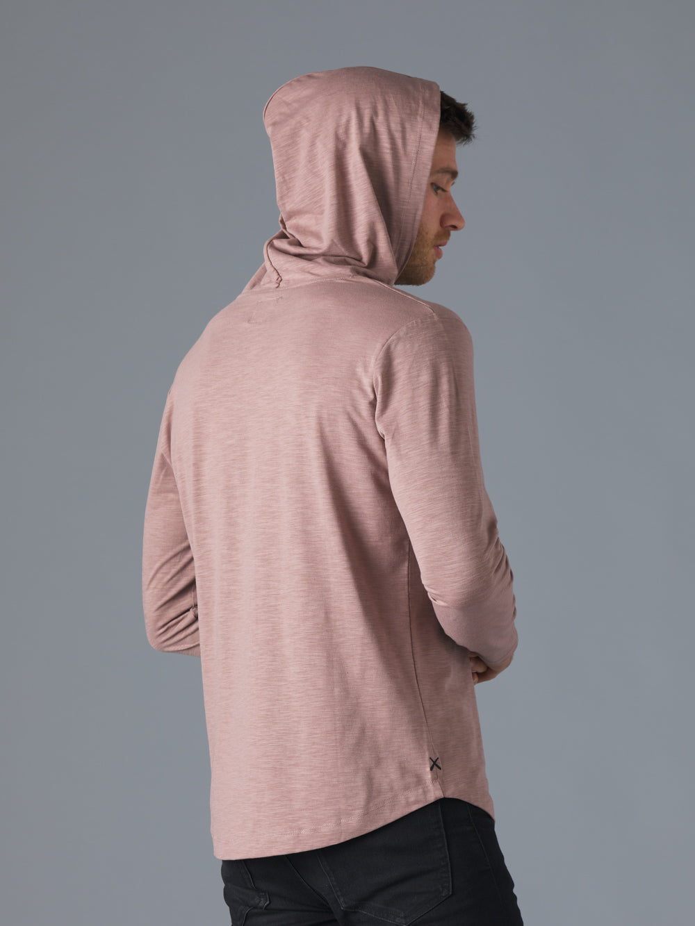 Mountain Mist Slub L/S Hooded Curve-Hem