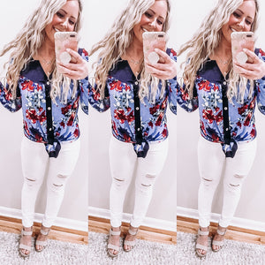 Vibrant Floral Tunic