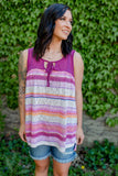 Sammie Striped Tank