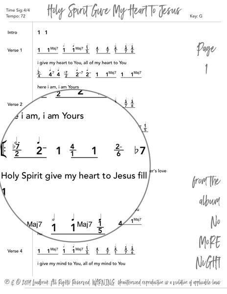 Holy Spirit Give My Heart To Jesus Nashville Number Chart by Loudbrook