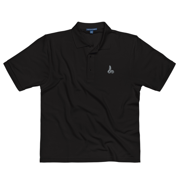 Silver Loudbrook Logo Embroidered Polo Shirt