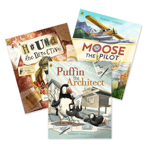 A bundle of picture books created by award-winning author illustrator Kimberly Andrews