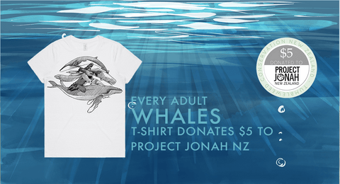 Whale Conservation partnership NZ | Tumbleweed Tees
