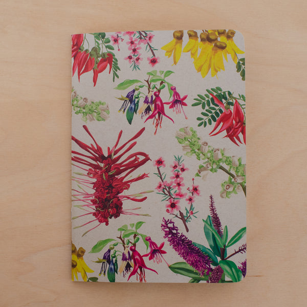 Painted Floral Notebook