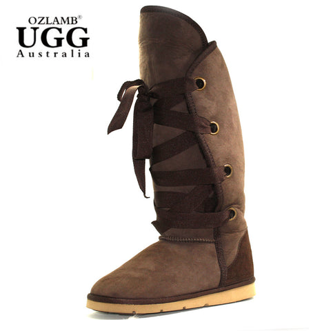 Jazz Buckle Short Ugg Boot - Chestnut