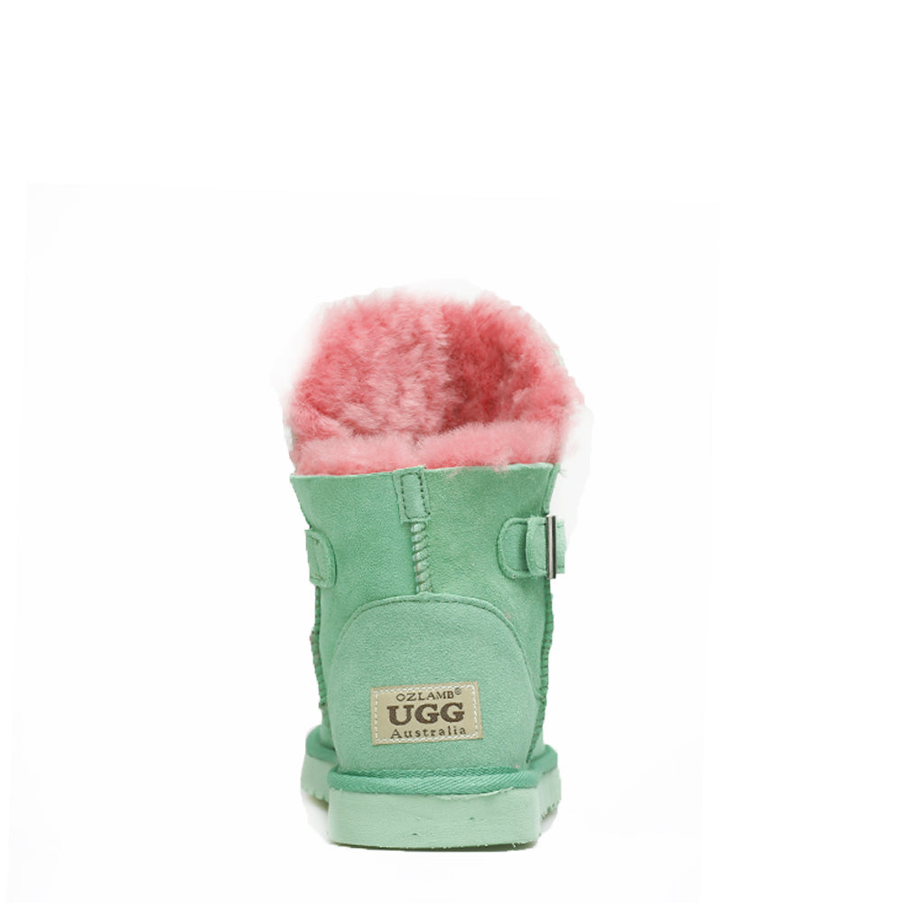 Ever Buckle Short Boots - Green