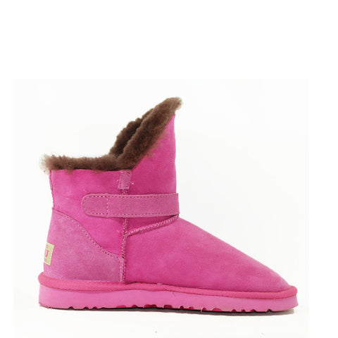 Ever Buckle Short Boots - Rose