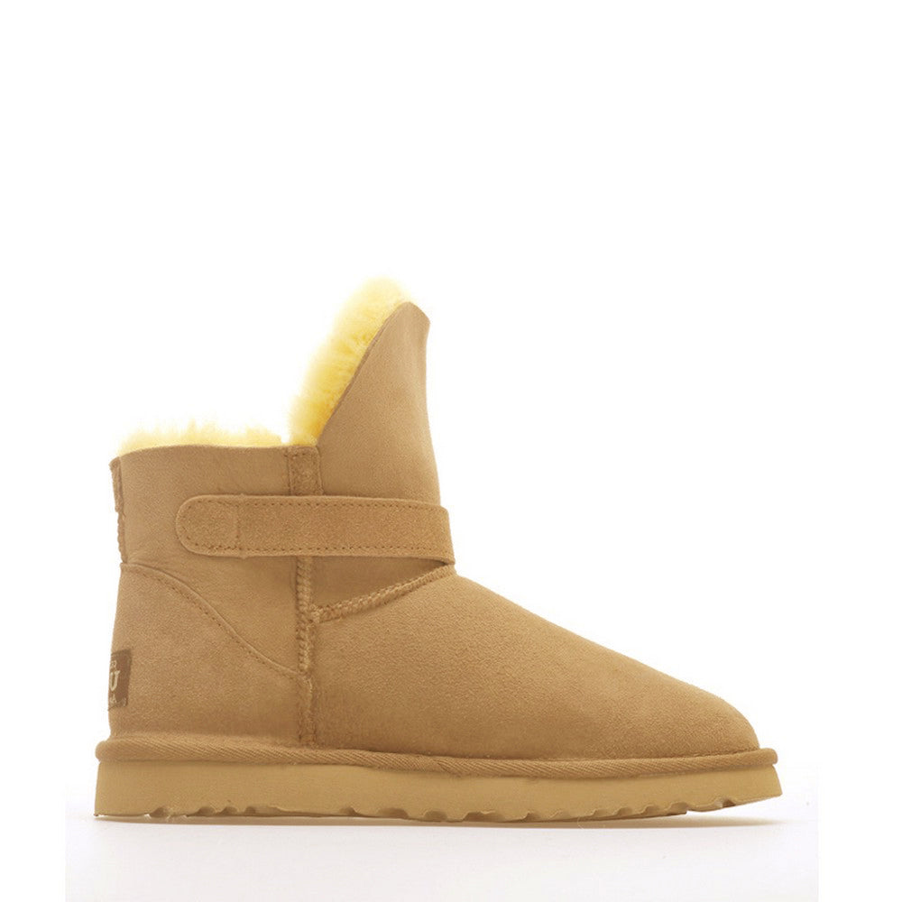 Ever Buckle Short Boots - Yellow