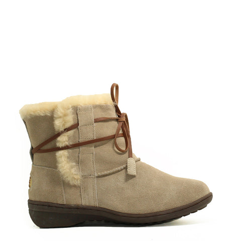 Lace Up Short Boots - Sand