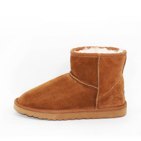 Sheepskin Wool Scuff - Chocolate