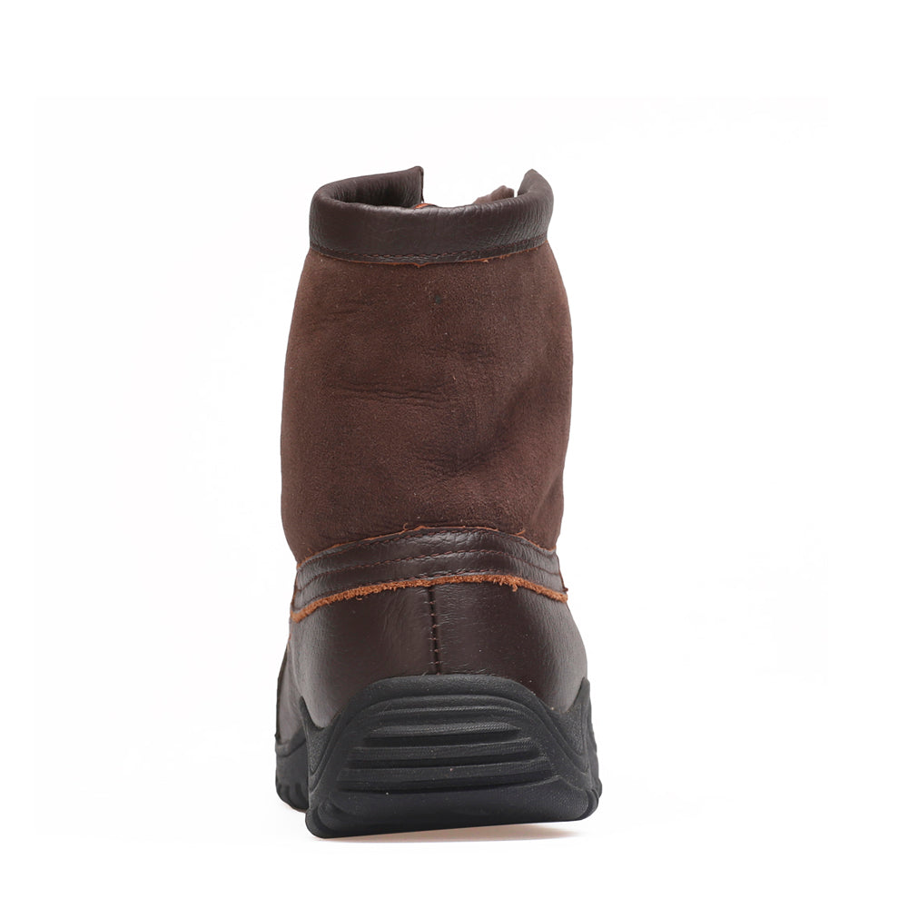 Leather Sheepskin Boot - Chocolate