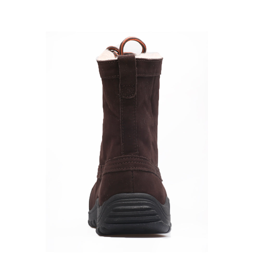 Mid Leather Sheepskin Boot - Chocolate