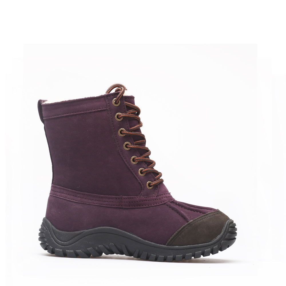 Mid Leather Sheepskin Boot - Purple