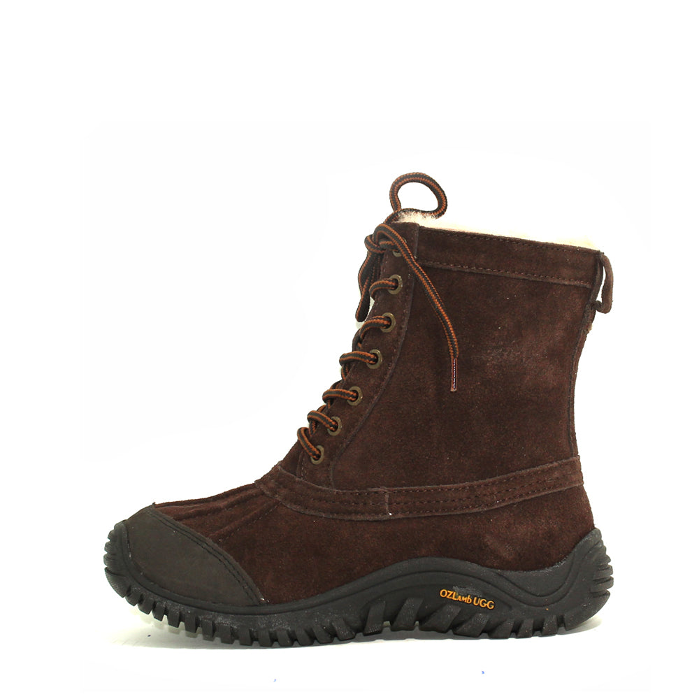 Finest Leather Sheepskin Boot - Chocolate