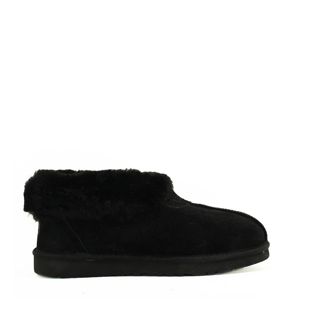 Wool Ugg Slippers - Black