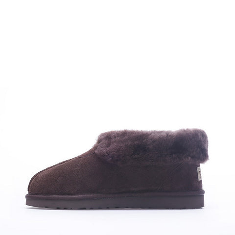 Luxury Knit Wool Scuff - Black