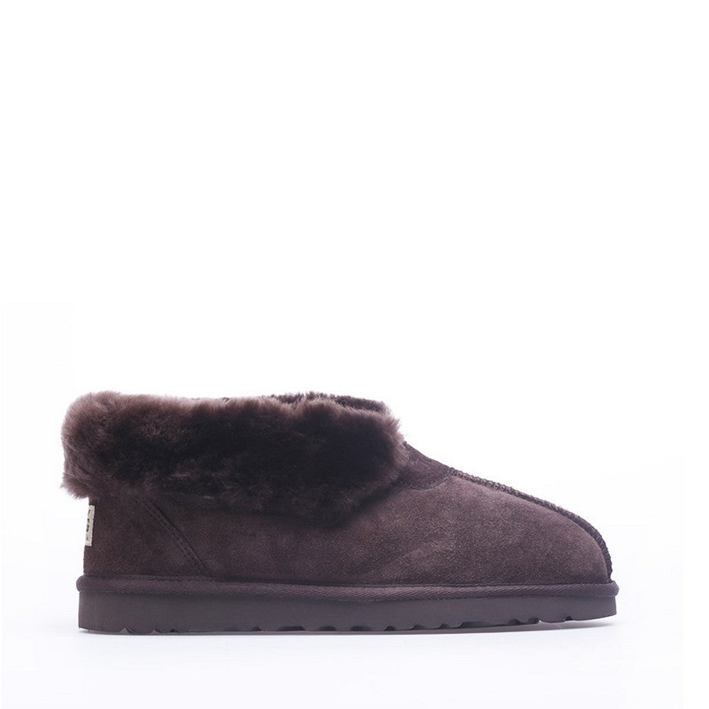 Wool Ugg Slippers - Chocolate
