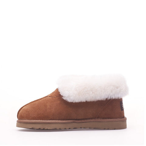 Wool Ugg Slippers - Chestnut