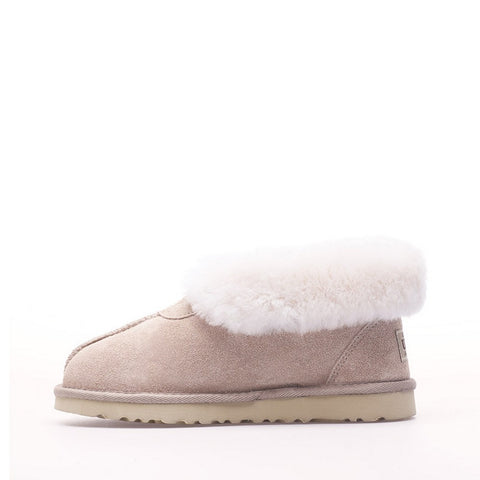 Wool Ugg Slippers - Sand