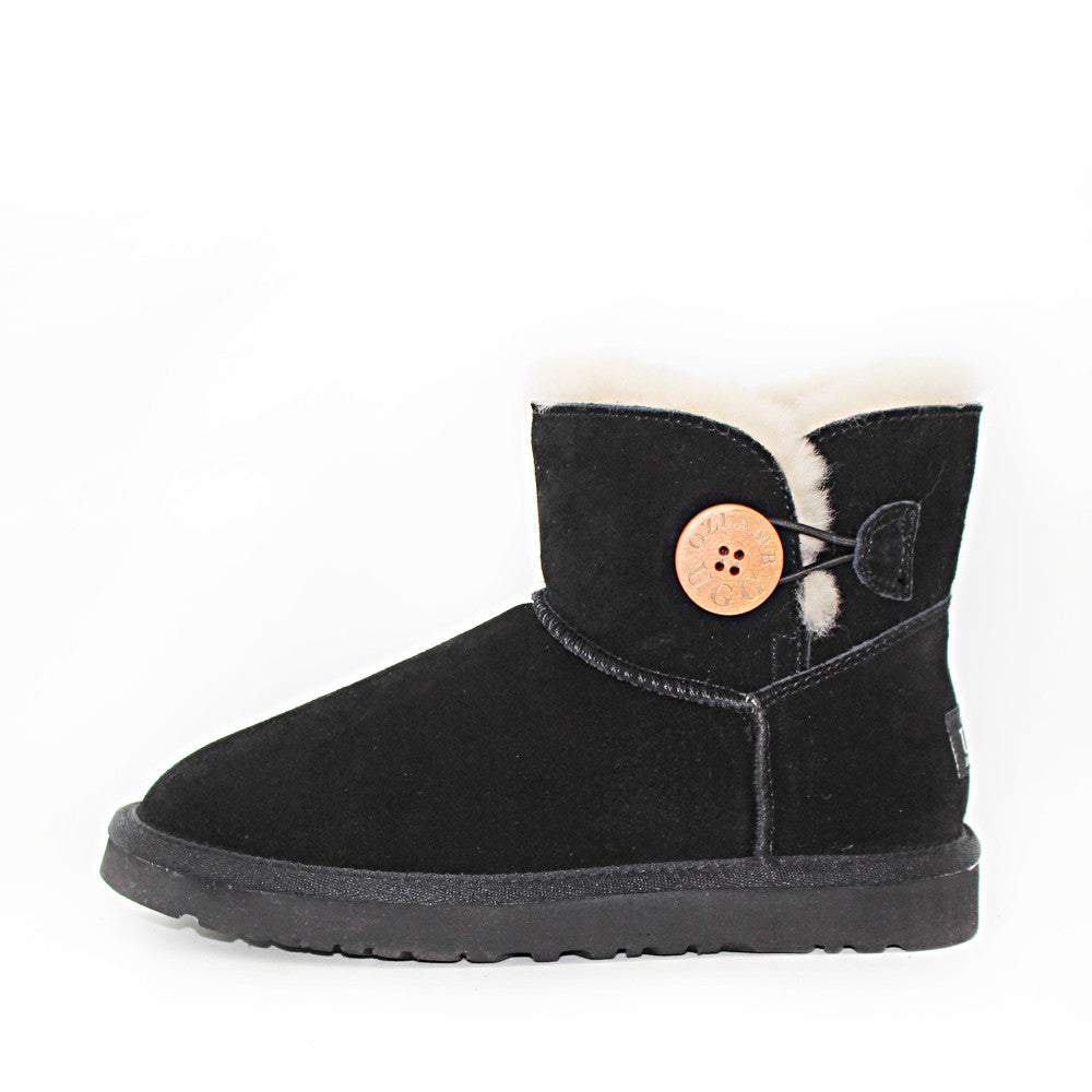 One Button Ugg Boot - Black
