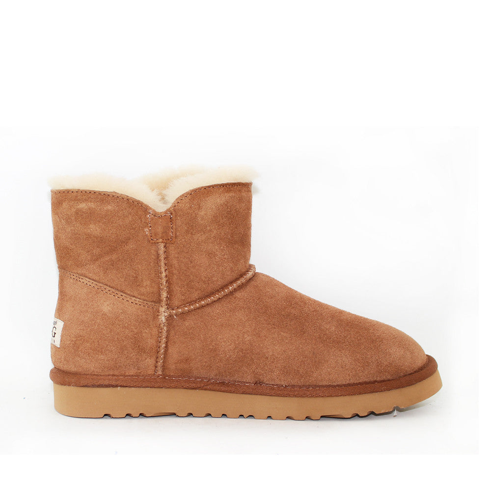 One Button Ugg Boot - Chestnut