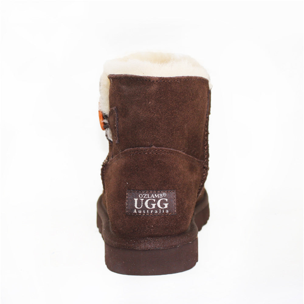 One Button Ugg Boot - Chocolate