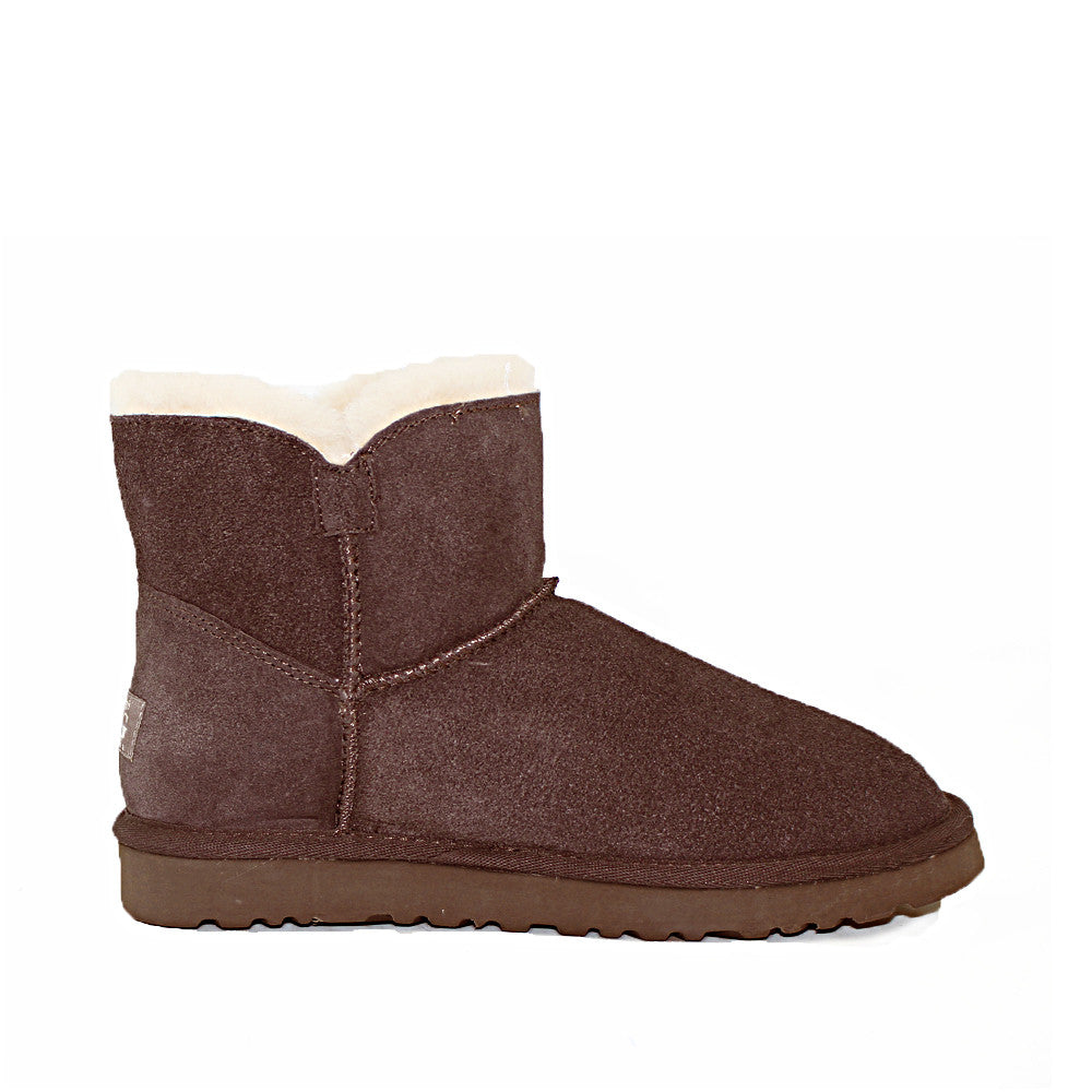 Crystal Button Ugg Boot - Chocolate