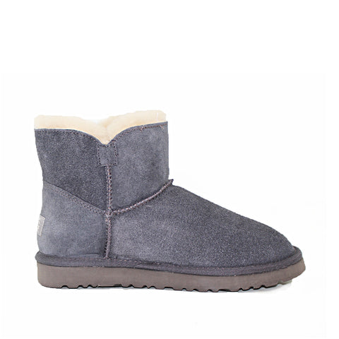 Crystal Button Ugg Boot - Grey