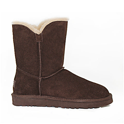Two Button Ugg Boot - Chocolate