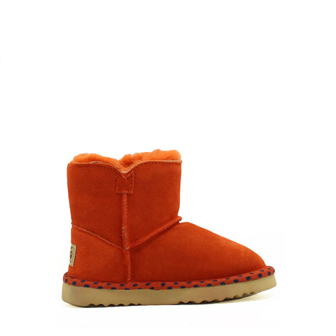 Spotted Crystal Kids Boot - Orange