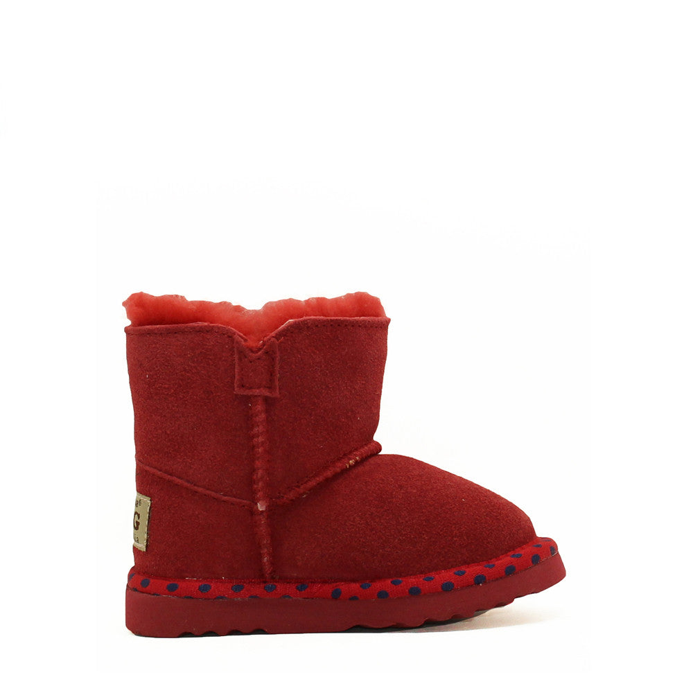 Spotted Crystal Kids Boot - Red